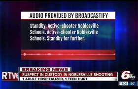 Initial emergency dispatch to active shooter situation at Noblesville