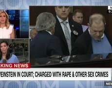 Harvey Weinstein charged in court