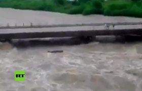 Puente se derrumba bajo sus pies y se salvan de milagro en Cuba
