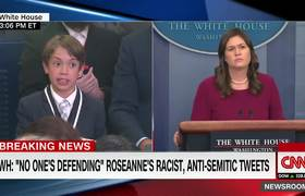 This kid's question made Sarah Sanders choke up