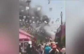Captan impresionante explosión en Xalostoc