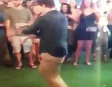 FBI Agent dances at night club and accidentally shoots gun