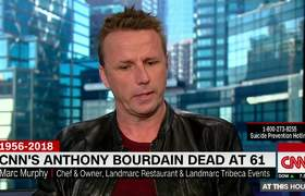 NN anchor brought to tears honoring Anthony Bourdain