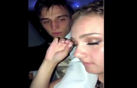#VIRAL: After prom this young lady removes her fake eyelashes and the reaction of her date is this