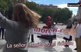 Seguidores de Anaya insultan a seguidores de AMLO en España