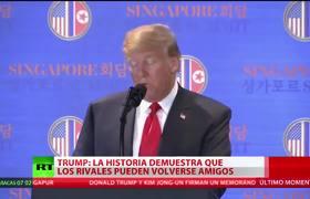 Trump tras su reunión con Kim Jong-un