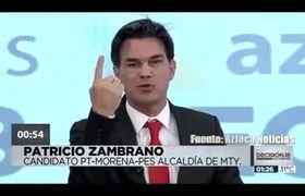 Pato Zambrano protagoniza pelea en debate