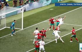 With goal from Cristiano Ronaldo Protugal wins 1-0 against Morocco in the World Cup