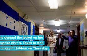 Melania flew to Texas to visit immigrant children wearing a jacket that says 'I really don't care