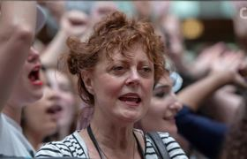 Susan Sarandon Arrested At Immigration Policy Protest