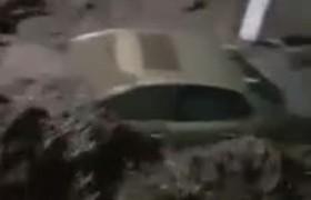 inundación en el Fraccionamiento del Quinceo en Morelia Michoacán