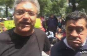 Sindicato Mexicano de Electricistas protestan en el Paseo de la Reforma