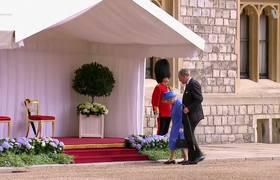 Queen Elizabeth Welcomes Donald Trump