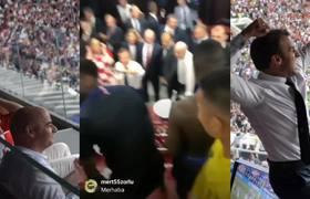 El festejo del presidente de Francia en el vestidor galo Francia Vs Croacia 4-2