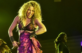 Shakira at the opening of the Central American Games Barranquilla 2018