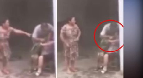 #VIRAL: Son forces mother to eat grass in violent family bust up