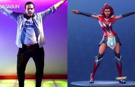 Youtubers imitating the dances of #Fortnite