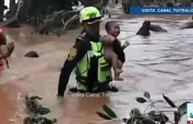 Baby saved from Laos dam disaster