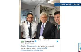 Aerolínea Viva Aerobus se promociona con viaje de AMLO