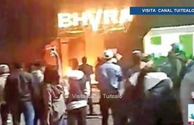 Sujetos queman bar tras riña en Huamantla