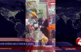 #VIDEO: Repartidor de Bimbo roba en tienda de un anciano