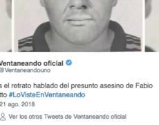 El rostro del presunto asesino de Fabio Melanitto