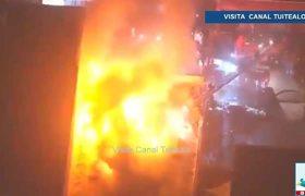 Incendio en edificio comercial de Los Ángeles