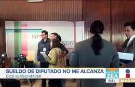 Sergio Mayer dice que el sueldo de diputado