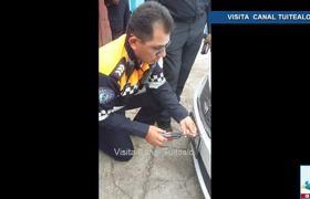 Policías prepotentes multan a automovilistas y quitan placas en Coyoacán CDMX