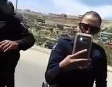 Momento donde detienen a Ivan Riebeling en Tijuana