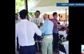 Captan a Carlos Salinas de Gortari y a su hijo Emiliano bailando 'Tiburón a la vista'