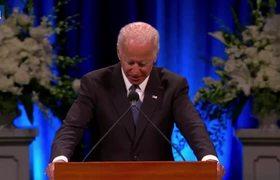 Joe Biden gives emotional eulogy at McCain memorial service