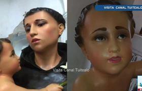 Criticas por la Restauracion de estatua de San Antonio de Padua