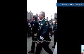 Manifestantes insultan a altos mandos de la Marina