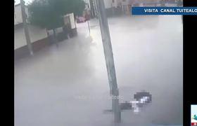 Muere estudiante por descarga eléctrica tras lluvias en Apodaca Nuevo León