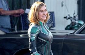 'Captain Marvel' First Exclusive Images With Brie Larson & Samuel L. Jackson
