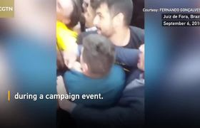 Moment Brazilian presidential candidate was stabbed