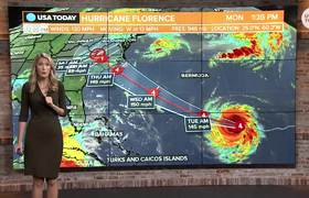Hurricane Florence strengthens to Category 4