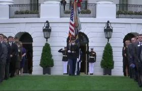 White House staff pause for 9/11 moment of silence