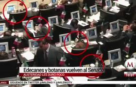 Senadores nuevamente tienen edecanes y botanas