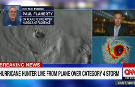 Hurricane hunter flies over Category 4 storm #Florence
