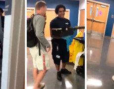 #VIRAL: Estudiante conmueve al dar regalo a trabajador de limpieza hispano en secundaria de Virginia