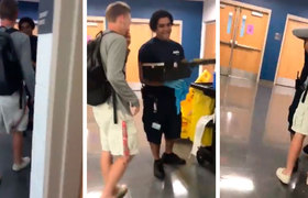 #VIRAL: Student moves to give gift to Hispanic cleaning worker in high school in Virginia