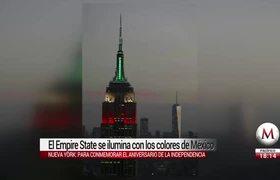 El Empire State se ilumina con los colores de México