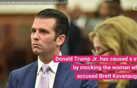 Donald Trump Jr. Mocks Brett Kavanaugh's Sexual Assault Accuser On Instagram