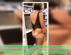 Woman wearing lingerie in Georgia Bed, Bath and Beyond claims 'it's a bathing suit'