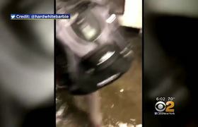 Inundaciones en el subway de New York
