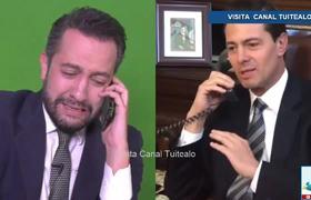 Peña Nieto le manda un 'corazón' a Chumel Torres en emotiva despedida