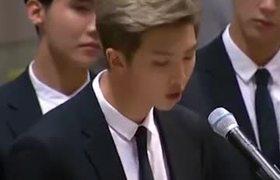 K-Pop member delivers emotional speech to United Nations