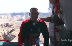 Will Smith marks 50th with Grand Canyon bungee jump